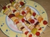 Pinchos frutas almíbar denso