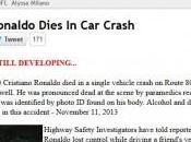 Cristiano Ronaldo muerto accidente