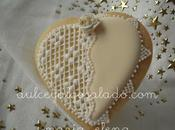 Galletas decoradas blanco oro!