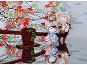 Sweet Lolitas... Lolitas Dulces...Muñeca artística española resina. Broche Collar.