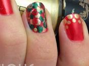 Tutorial Christmas nails: Dotted