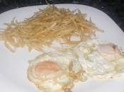 Huevos fritos patatas