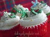 Mini cupcakes turrón crema mantequilla turrón.