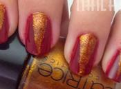 Tutorial Christmas nails: Goldness