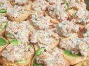 Canapé salmón ahumado mostaza