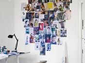 Decora pared fotos páginas revistas
