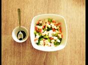 Broccoli, surimi brie