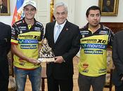 Jefe estado reunió piloto chileno ganar rally dakar 2014 categoría quads