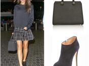 look: tartan skirt