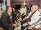 Fidel Castro recibió honorable primer ministro Santa Lucía fotos]