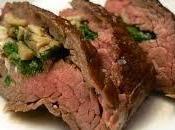Ternera rellena queso oveja, cebolla caramelizada espinacas. Nutrición recetas