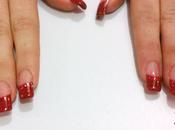 Uñas acrílico cristal rojo Nail para Valentín.
