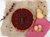 Tarta fresas almíbar galletas para Valentín