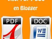 Insertar documentos DOC, otro entradas Blogger