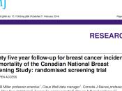 Screenning Cancer Mama: Experiencia Canadiense mirada bajo metodologia GRADE