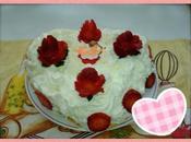 Pastel valentin nata fresas