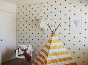 DIY: Efecto Papel pintado Cruces paredes gotelé. Washitape