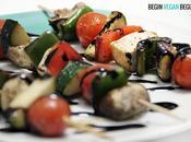 Brochetas verduras tofu
