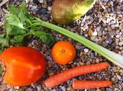 Zumo caqui, pera, apio zanahoria