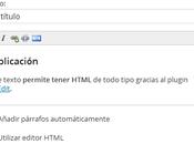 Añadir editor WYSIWYG widget Texto WordPress