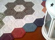 Hexágonos, camino mesa, patchwork