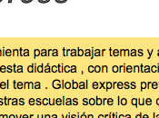 Global express: actualidad llevada aula