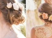 Peinados flores para novias: recogidos apliques