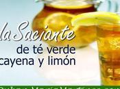 Bebida Saciante verde, cayena limón