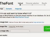 Buscador tipografías partir imagen: