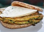 sandwich queso azúl castello tortilla francésa espinacas