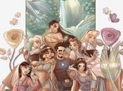 Tony stark compañía princesas disney coqueteando