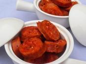 Chorizos escaldados olla