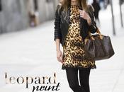 leopard print chiffon dress