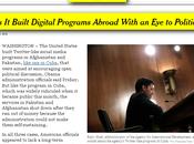 EEUU construyó redes como ZunZuneos varios países, según York Times video]