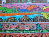 """MARCOS. campo """"Los pinos"""" Dibujo rotulador sobre pequeño formato. Artistas años"""