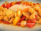 Garbanzos verduras curry