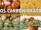 Carbohidratos simples, carbohidratos complejos fibra dietética