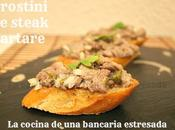 Crostini steak tartare, influencia mastercheff