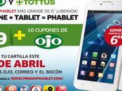 Llévate phablet Quasar (smartphone tablet) promo Ojo. Características técnicas