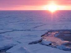 Olas gigantes rompen hielo marino Antártida