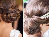 Peinados recogidos novia: cabello largo