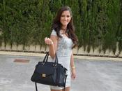 Vestido jacquard bolso CARLINO Roma negro