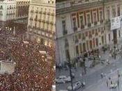Foto: Manifestacion republicana manifestación monárquica: busque diferencias