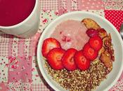 Desayuno RAW: granola licuado remolacha