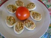 Huevos rellenos pipirrana Jaen