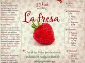 fresa, ideal para cualquier dieta adelgazamiento #Infografía #Salud #Alimentos