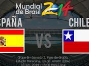 Partido España Chile Grupo Mundial 2014