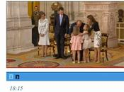Abdicación. Letizia elige conjunto blanco negro Felipe Varela. Infantas rosa estilo romántico
