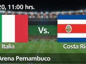 Partido Italia Costa Rica Grupo Mundial 2014