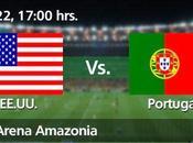 Partido Estados Unidos Portugal Grupo Mundial 2014
